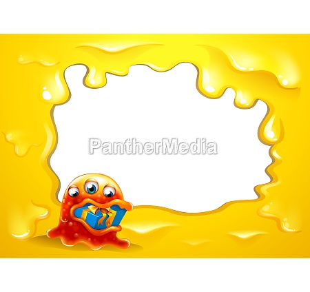 a yellow border template with a