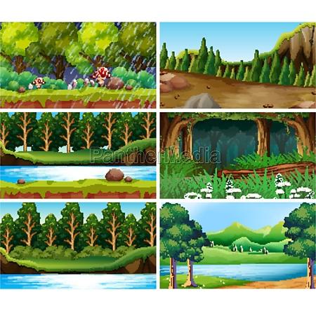 empty blank landscape nature scenes