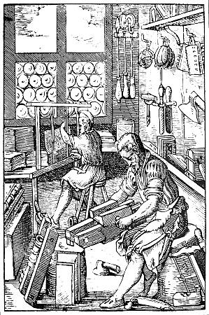 16th century scene in an early
