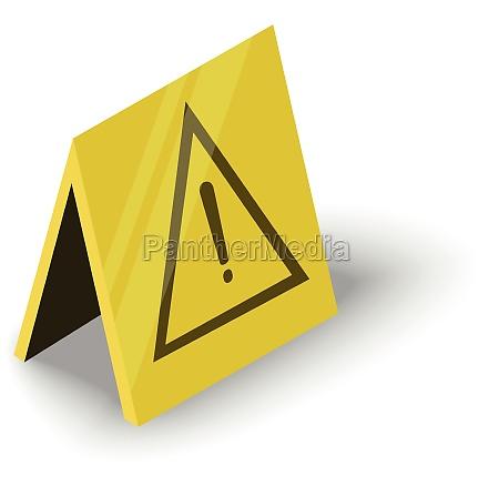wet floor icon isometric style