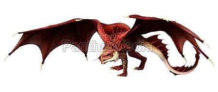 3d rendering fairy tale dragon on