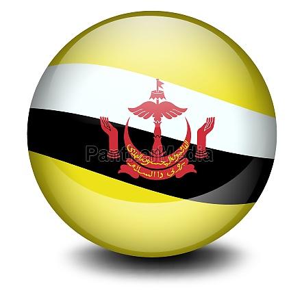 a soccer ball with the flag