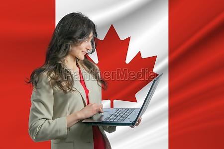 freelance in canada beautiful young woman