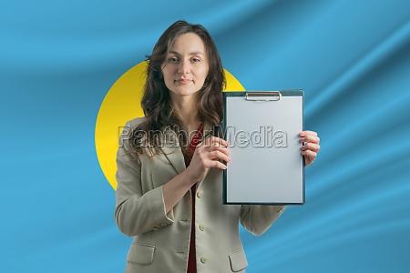 study in palau beautiful woman holding