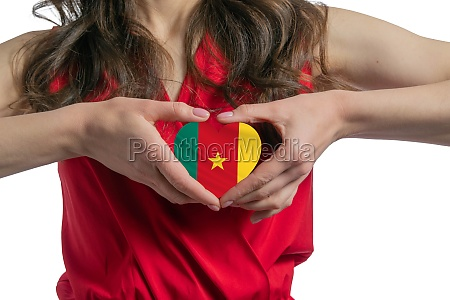 love cameroon the woman holds a