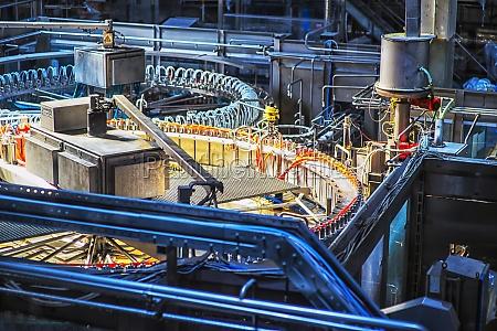 conveyor belt for beer bottles on