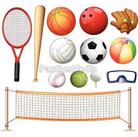 volleyball net and different types of