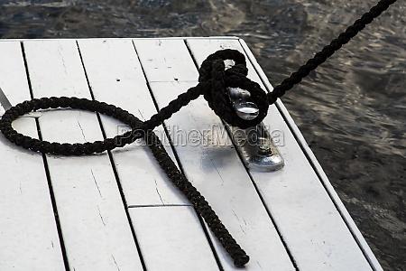 marina bollard bitt at jetty for