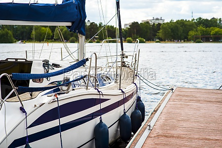 a mooring with a mooring line
