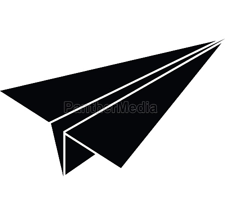 paper airplane icon simple style