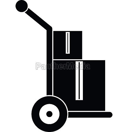 truck with boxes icon simple style