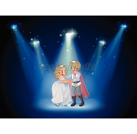 a stage with a prince and