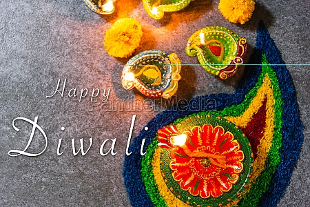happy celebration deepavali or diwali indian
