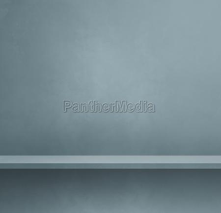 empty shelf on a tinted grey