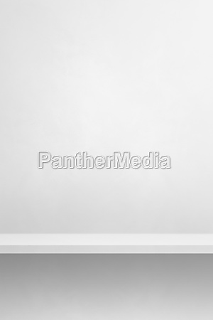 empty shelf on a white wall