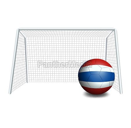 a ball with the flag of