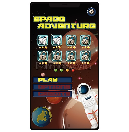 space adventure mission game on tablet