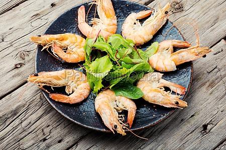 boiled shrimp on a plate