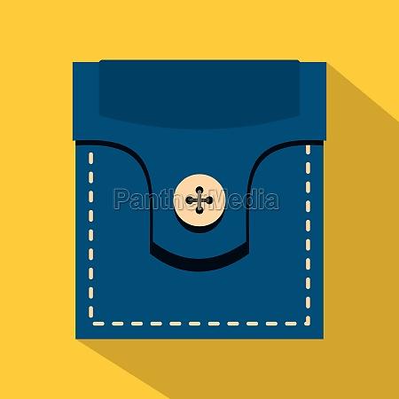 fashion pocket for shirt icon flat