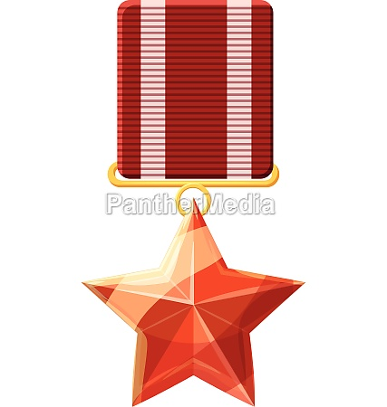 red order with star icon cartoon