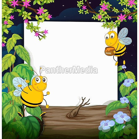 honey bees and a white board