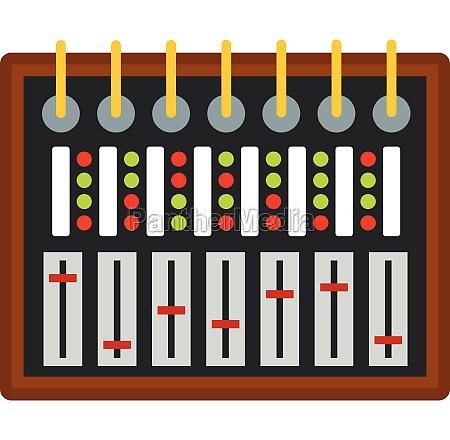 studio sound mixer icon isolated