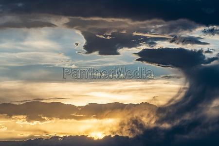 usa idaho bellevue dramatic sky at