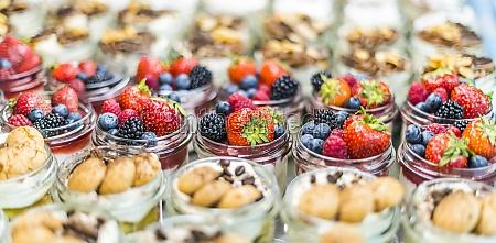 assorted bio desserts presented in a