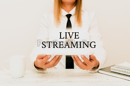 text showing inspiration live streaming business