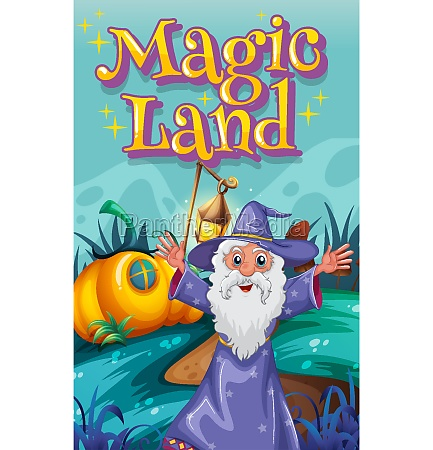 poster design with word magic land