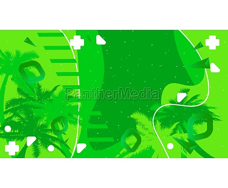 abstract summer background banner