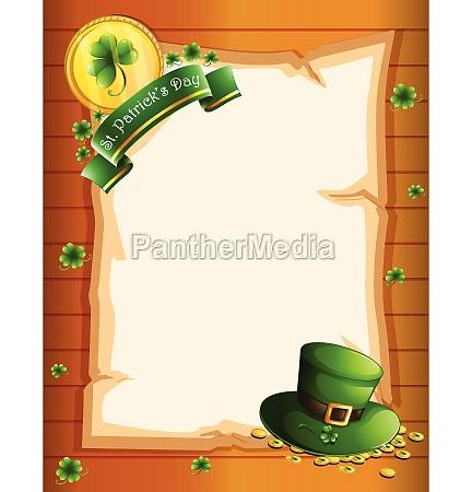 a blank sheet for st patricks