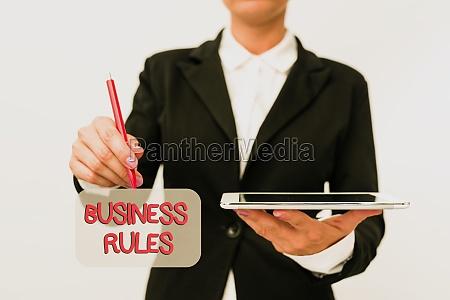 conceptual caption business rules business showcase