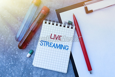 text caption presenting live streaming business