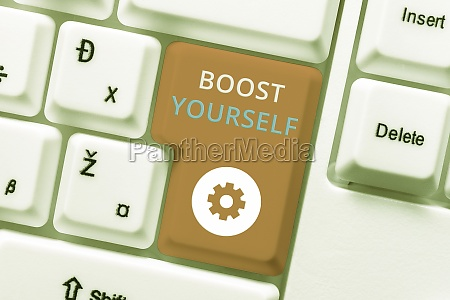 writing displaying text boost yourself business