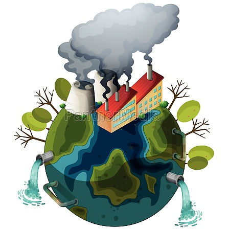 an polluted earth icon