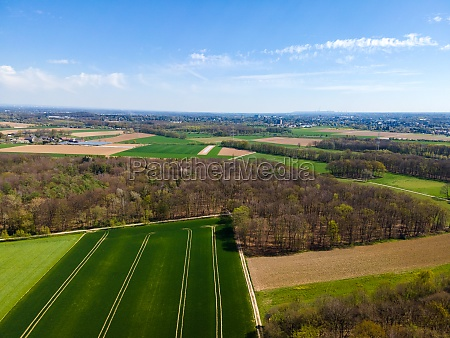 agricultural fields countryside a shot from