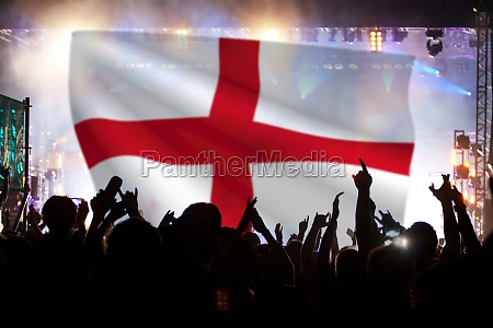 england supporters and fans during football