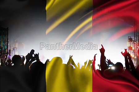 belgian supporters and fans during football