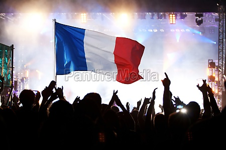 french supporters and fans during football