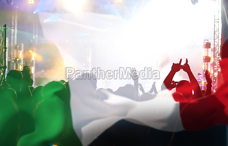 italian supporters and fans during football