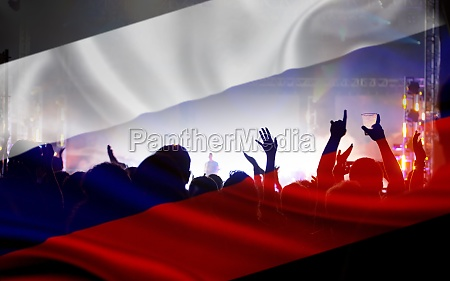 russian supporters and fans during football