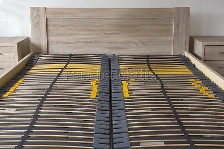 slatted base wooden element double bed
