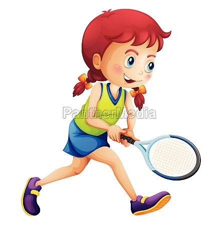 a young lady playing tennis