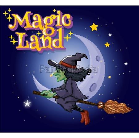 font design for word magic land