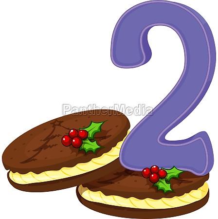 two christmas cookies