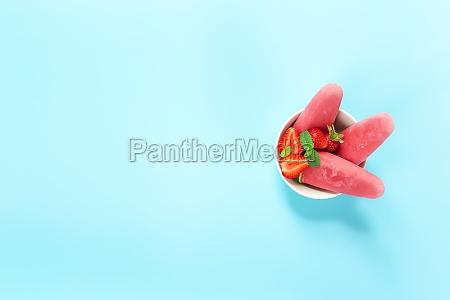 fruity frozen sorbet ice cream with
