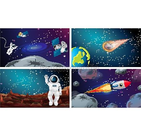 large space scene set