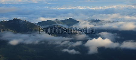 green hills and mountains on a