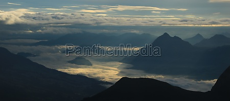 sunrise view from mount brienzer rothorn